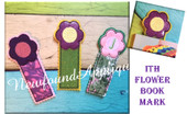 In The Hoop Floral Book Mark Embroidery Machine Design Active