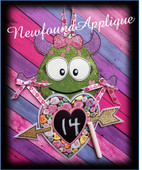 In The Hoop Monster Valentine Count Down Embroidery Machine Design