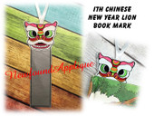 In The Hoop Chinese New Year Lion Book Mark Embroidery Machine Design