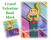 In The Hoop Valentin Lizard Book Mark Embroidery Machine Design