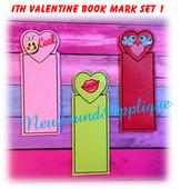 In The Hoop Valentine Book Mark Set 1 Embroidery Machine Designs