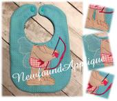 In the Hoop Cupid Body Bib Embroidery Machine Design
