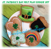 In The Hoop St. Patrick's Day Felt Play Cookie Embroidery Machine Design Set