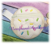 In The Hoop Cookie With Sprinkles Zipped Case Embroidery Machine Design for 5x7 hoop