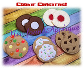In The Hoop 10 Piece Cookie Coaster Embroidery Machine Design Set