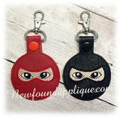 In The Hoop Ninja Key Fob Embroidery Machine Design
