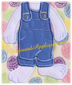 "Easter Bunny Body Applique Embroidery Machine Design for 5""x7"" Hoop"
