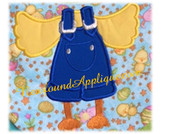 "Chick Body Applique Embroidery Machine Design For 5""x7 hoops"