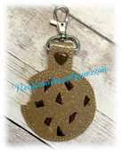 In The hoop Key Fob Cookie with Choc Chunks Embroidery Machine Design