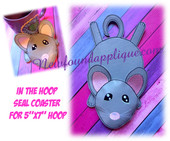 "In The Hoop Flat Mouse Coaster Embroidery Machine Design for 5""x7"" Hoops"