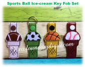 InThe Hoop Sports Ball Ice Cream Key Fob Embroidery Machine Design Set