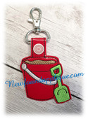 In the Hoop Pail and Shovel Key Fob Embroidery Machine design