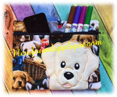 In the hoop Labrador Retriever Zipped Case Embroidery Machine Design