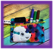 In the hoop Poodle Zipped Dog Case Embroidry Machine Design