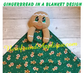 In The Hoop Gingerbread In A Blanket Embroidery Machine Design