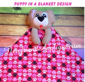 In The Hoop Puppy In A Blanket Embroidery/Sewing Machine Design