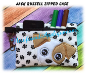 In The Hoop Jack Russell Zipped Case Embroidry Machine Design