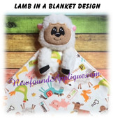 In The Hoop Lamb In A Blanket Embroidery/Sewing Machine Design