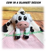 In The Hoop Cow In A Blanket Embroidery Machine/Sewing Machine Design