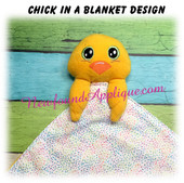 In The Hoop Chick In A Blanket Embroidery / Sewing Machine Design