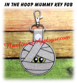 In the Hoop Mummy Key Fob Embroidery Machine Design