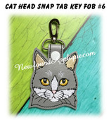 In the Hoop Cat Head Key Fob #6 Embroidery Machine Design