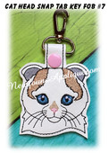 In the Hoop Cat Head Key Fob #7 Embroidery Machine Design