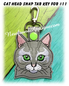 In the Hoop Cat Head Key Fob #11 Embroidery Machine Design