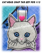 In the Hoop Cat Head Key Fob #13 Embroidery Machine Design