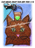 In the Hoop Cat Head Key Fob #15 Embroidery Machine Design