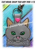 In the Hoop Cat Head Key Fob #16 Embroidery Machine Design