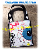 In the hoop Halloween Treat Bag Eyeball Embroidery Machine Design