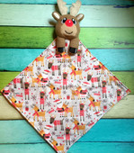In The Hoop Reindeer In A Blanket Embroidery Machine Design
