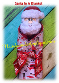 In The Hoop Santa In A Blanket Embroidery Machine Design