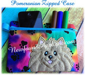 In The Hoop Pomeranian Zipped Case Embroidery Machine Design