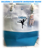 Ballerina Silhouette 1 Embroidery Machine Fill Stitch Design