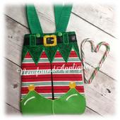 In the Hoop Elf Pants Tote Bag Embroidery Machine Design