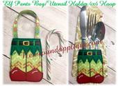 In the Hoop Elf Pants Treat Bag 4x4 Embroidery Machine Design