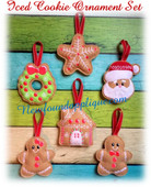 In The Hoop Iced Cookie Ornaments Embroidry Machine Design Set