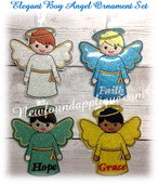 In The Hoop Elegant Boy Angel Embroidery Machine Design Set
