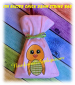In The Hoop Easter Chick Draw String Bag Embroidery Machine Design