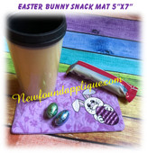 In The Hoop Easter Bunny Snack Mat Embroidery Machine Design