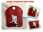In The Hoop Hockey Coin Purse Embriodery Machine Design