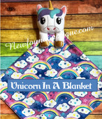 In The Hoop Unicorn In A Blanket Embroidery Machine Design