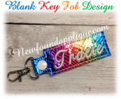 In the Hoop Blank Key Fob Embroidery Machine Design