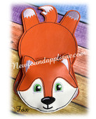 In The Hoop Fox Flat Coaster Embroidery Machine Design