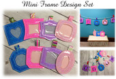 In The Hoop Mini Picture Frame Embroidery Machine Design Set