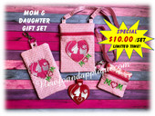 In The Hoop Mother & Daughter Embroidery Machine Gift Set