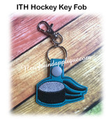 In The Hoop Hockey Key Fob Embroidery Machne Design
