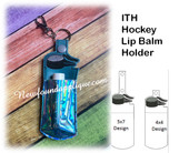 In The Hoop Hockey Lip Balm Holder Embroidery Machine Design